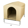 HoundHouse Portable Collapsable Pet Kennel Shelter Khaki - Large with Scale