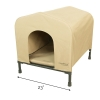 HoundHouse Portable Collapsable Pet Kennel Shelter Green - Medium with Scale
