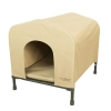 HoundHouse Portable Collapsable Pet Kennel Shelter Khaki - Medium