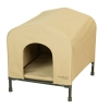 HoundHouse Portable Collapsable Pet Kennel Shelter Khaki - Small