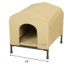 HoundHouse Portable Collapsable Pet Kennel Shelter Khaki - Small with Scale