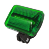 7 in 1 Bike Runner Safety Flasher Light Green LED with strap and bike attachment