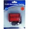 4 Function 3 LED Bicycle Red Safety Flasher Bike Bracket Attachment Retail Packaging