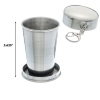 ASR Outdoor Stainless Steel Collapsible Camping Cup 2.5oz Scale