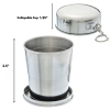 ASR Outdoor Stainless Steel Collapsible Camping Cup 8.5oz Scale