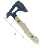ASR Tactical Full Tang Axe with Pry Bar Handle Blade - Gray