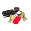 Red Aluminum Dog Tag on Key Chain