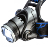 ASR Outdoor 1000 Lumen Zoom Rechargeable Pivoting Headlamp 3 Stage Switch