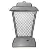 ASR Outdoor 11.5 Inch Rechargeable UV Hanging Bug Zapper Stand Lasts 10hrs Gray