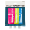 ASR Outdoor Ultralight Travel Bottles Non-metal TSA Compliant Food Grade 3oz 3pk