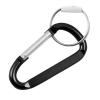 "8mm Large 3.25"" Carabiner Clip Key Chain - Black"