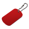 Aluminum Dog Tags Engraveable Blank Key Chains Military Identification 1pk