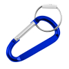 "8mm 3.25"" Large Carabiner Key Chain - Dark Blue"