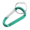 6 Pack Aluminum Multi-Color Carabiner Spring Clip Keychain (Green Large)