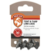 Gear Aid 4 Pack Tent and Tarp Secure Line Locks Heavy Duty Camping - Black
