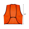 Universal Fit Disposable Safety Vest High Visibility Orange Scale