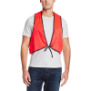 Universal Fit Disposable Safety Vest High Visibility Orange in Use