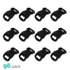 96pk ASR Outdoor Paracord Bracelet Buckle Set Black 15mm .5 Inch
