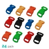 24pk ASR Outdoor Paracord Bracelet Buckle Set Assorted Colors 15mm .5 Inch