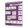 Productive Fitness Poster Series Lower Resistance Tubing Exercises Laminated