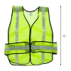 ASR Federal Universal Fit Safety Vest High Visibility Lime Green Reflective