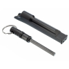 ASR Outdoor 3 in 1 Flint Rod Striker Fire Starter Whistle Every Day Carry Black