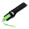 "Full Tang Camping Hunting Survival 11"" Serrated Knife Fire Starter Neon Green"