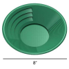 ASR Outdoor Green 8 Inch Gold Mining Pan for Gold Prospecting 2 Riffle Types