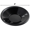 ASR Outdoor Black 8 Inch Gold Mining Pan for Gold Prospecting 2 Riffle Types