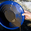 ASR Outdoor Blue 12 Inch Gold Mining Pan for Gold Prospecting 2 Riffle Types