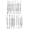 19 Piece Dual Sided Stainless Steel Wax Clay Carving Pick and Spatula Set fine art supplies ceramics sculpture pottery clay kiln DIY