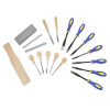 18pc Wood Carving Chisel Set Various Blades Woodworking Clay And Wax Tool Set