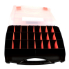 26 Compartment Small Bin Storage Container Locking Lid Portable Case Open