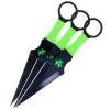 3pc Zombie Survival Throwing Knives Set Black with Sheath 440 Stainless Steel