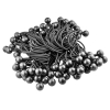 Universal Tool 100 Pack Black Stretch Cord with Black Ball 6 Inch Length