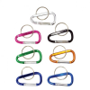 Carabiner Aluminum Keychain with Spring Clip Assorted Colors Extra Small 7 Pack