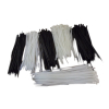 100pk Cable Zip Ties White
