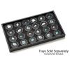 Universal Hobby 24 Slot Gem Display Box Holder Clear Snap Round Cases with Lids