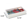 "SE JT912W 2"" Jeweler's ABS Display Tray, White"