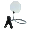 5 inch Rimless Clip-on Magnifier with Bendable Neck