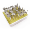 50pc Diamond Burr Bit Set for Rotary Tool 60 Grit