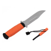 ASR Outdoor Knife 11 Inch Stainless Steel Blade With Survival Safety Fire Starter Orange
