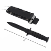 6inch ASR Tactical Serrated Fixed Blade Dagger Hunting Neck Knife - Black