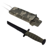 6inch ASR Tactical Serrated Fixed Blade Tanto Point Hunting Neck Knife - Camo