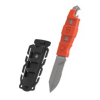 Tactical Buri Multipurpose Utility Dive Knife 8 Inch - Orange