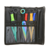 6pc Survival Ninja Throwing Knives Set with Sheath - Assorted Colors