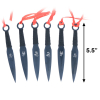 6pc Ninja Kunai Throwing Knives Set Drop Point Blades with Carrying Case