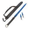 Ninja Sword Full Tang Blade with 2 Throwing Knives Sheath Survival Set - Blue