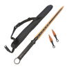 Ninja Sword Full Tang Blade with 2 Throwing Knives Sheath Survival Set - Orange
