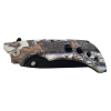 ASR Outdoor Folding Pocket Knife ABS Handle 3.5 Inch Blade - Forest Snow